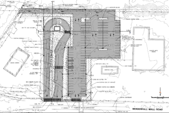 The engineering firm DOWL prepared this 35 percent review plan of a proposed Valley Transit Center for the City and Borough of Juneau.