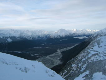 View of the Chilkat River from the Takshanuk Mountains.