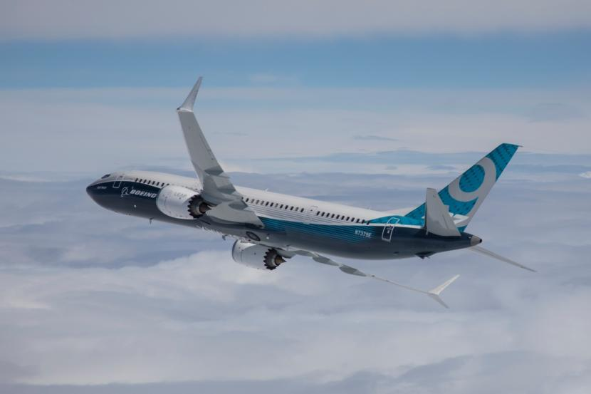 Boeing's new 737 MAX 9, the model Alaska Airlines plans to add to its fleet this summer. (Photo by Paul Weatherman/PRNewsfoto/Boeing)