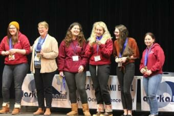 Ketchikan High School Tsunami Bowl team, the Saber-Toothed Salmon, won the 2019 Alaska Tsunami Bowl. (Photo courtesy of Tsunami Bowl)