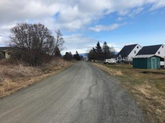 Bruce Street is one of many roads in Kachemak City maintained with funding from local road grants. (Photo by Renee Gross/KBBI)