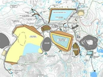 Map of the proposed Pebble Mine site.