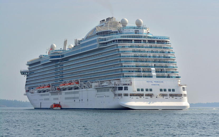 The 1,083-foot Royal Princess, shown hear near Nynäshamn, Sweden, in 2014.