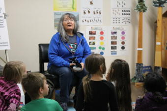 Marsha Hotch teaches at her language nest in Haines.