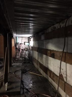 Joshua Adams says he discovered a dead man in a hot tub in this part of the Alaskan Hotel and Bar's basement in Juneau in September of 1998. This photo was taken Dec. 8, 2017.