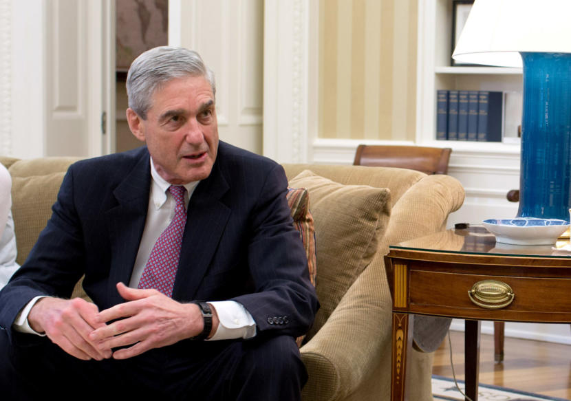 Former FBI Director Robert Mueller, pictured here in the Oval Office in 2012.