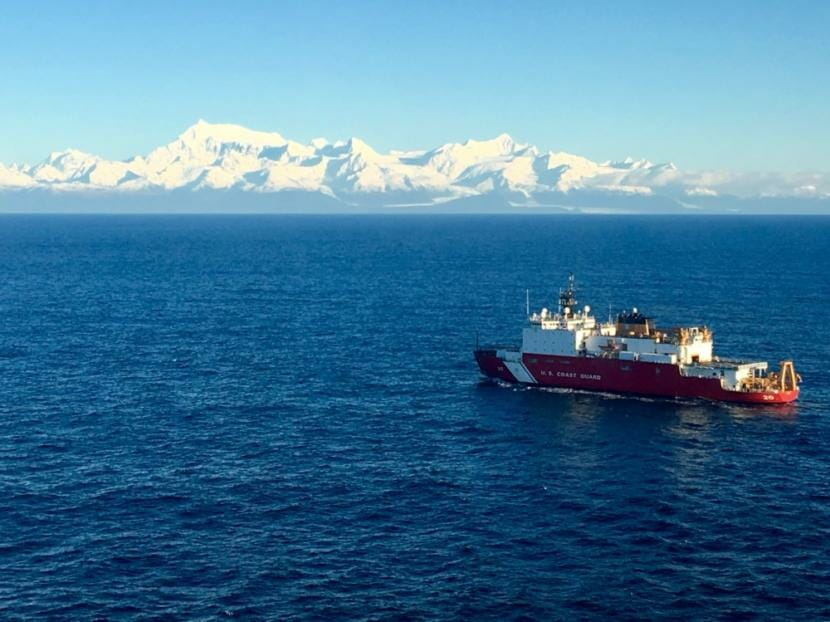 The Coast Guard Cutter Healy, a polar-class icebreaker, transits Southeast Alaska waters, Nov. 24, 2018. The Healy is one of two ice breakers currently in U.S. service.