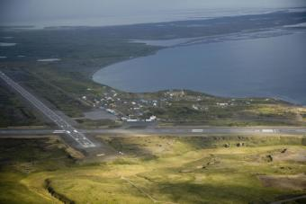 The runway at the Alaska Peninsula village of Cold Bay is long enough for jets to land — unlike the airstrip at the nearby fishing town of King Cove.