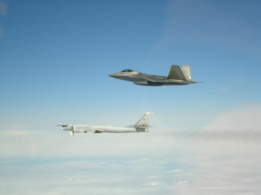 NORAD intercepts Russian bombers and fighters entering Air Defense Identification Zone.