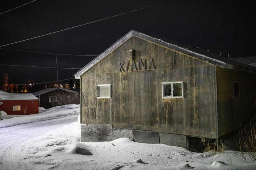 A building in Kiana's old town. Inupiat people have occupied the site at the confluence of the Kobuk and Squirrel rivers since at least the late 1700s, according to archaeological investigations conducted by Brown University.