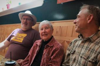 "Sitka Pioneer Home resident Nancy Ricketts meets for coffee with friends in a local cafe. At 94, Ricketts says she carefully budgeted in order to live in the Pioneer Home — including selling her house. She testified that increased financial stress on residents will jeopardize their health, and ultimately cost the state more. ""The state will have to pay to keep us here, or throw us out on the street,"" she said. ""A loss of independence is the most horrible thing I can think of."""
