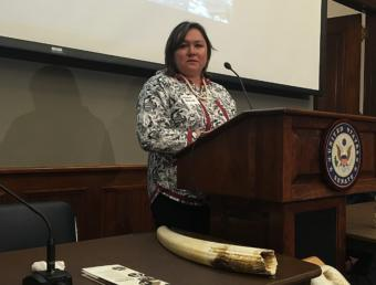Melanie Bahnke is the president and CEO of Kawerak Inc. She wants to foster greater acceptance of ivory carvings from her region.