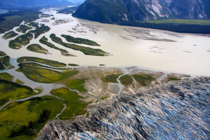 Aerial view of the Taku River basin.