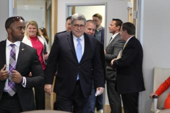 U.S. Attorney General William Barr heard concerns from Alaska Native leaders about the lack of law enforcement and high rates of sexual assault and domestic violence in rural Alaska. (Photo by Joey Mendolia/Alaska Public Media)