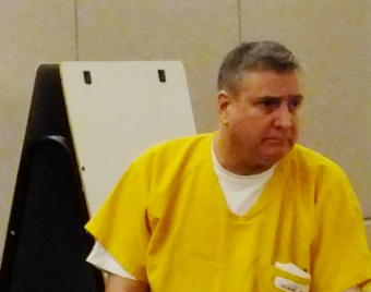 Mark DeSimone enters a Juneau courtroom for his sentencing hearing on June 17, 2019.