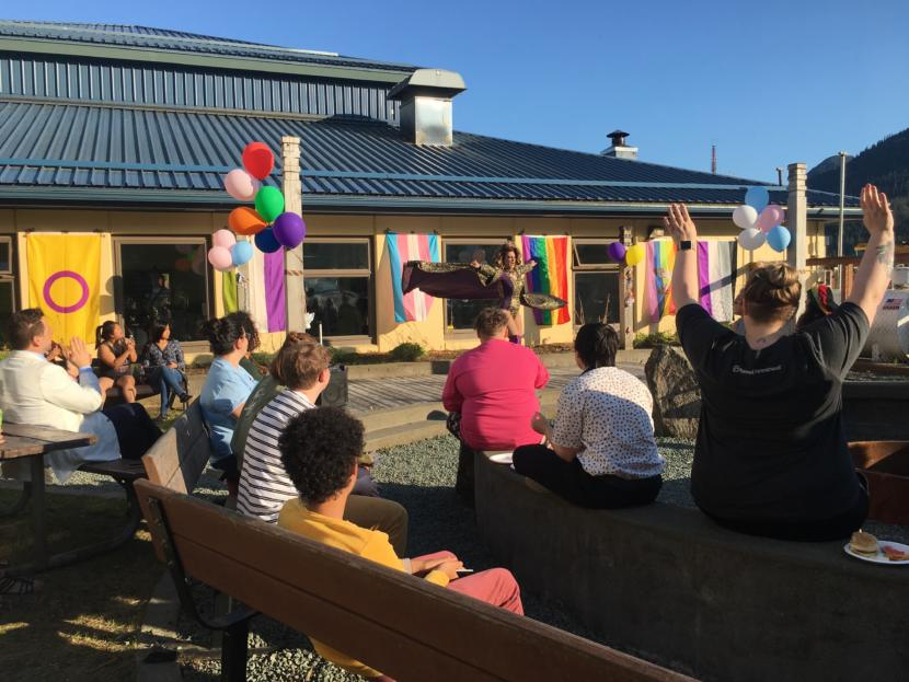 Tie-dye, rainbows and love songs: Juneau's first youth LGBTQ