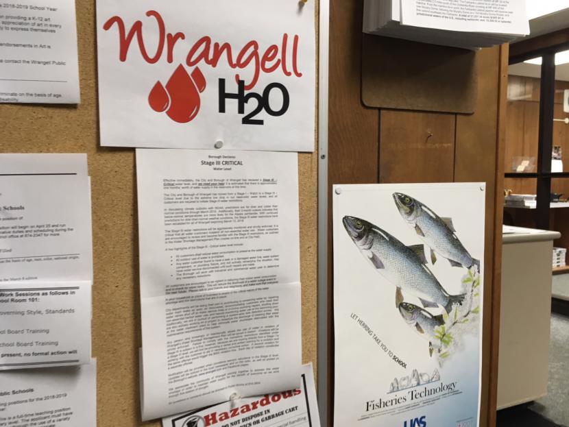 The city of Wrangell declared a red alert water watch in March 2018.
