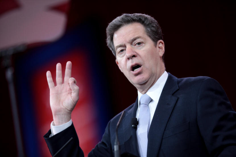 Gov. Sam Brownback of Kansas speaking at the 2015 Conservative Political Action Conference (CPAC) in National Harbor, Maryland.