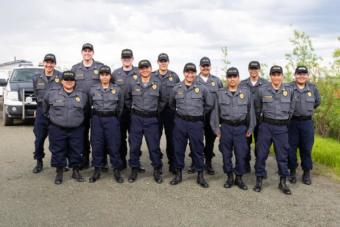 Thirteen officers graduated from Rural Law Enforcement Training at Yuut Elitnaurviat in Bethel on June 14, 2019.