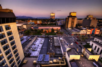 A view of downtown Anchorage.