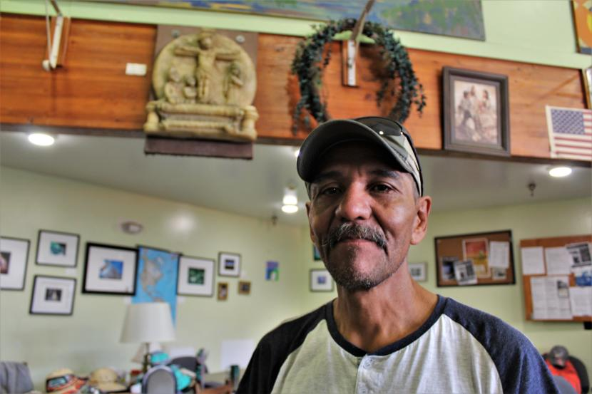 Peter Church, a patron at the Glory Hall homeless shelter in downtown Juneau. (Photo by Adelyn Baxter/KTOO)