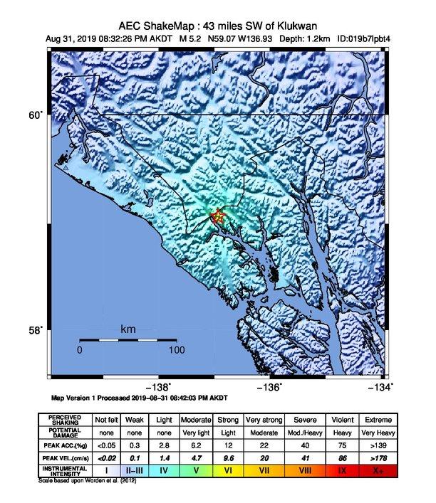 Earthquake shakes Southeast Alaska, no tsunami danger