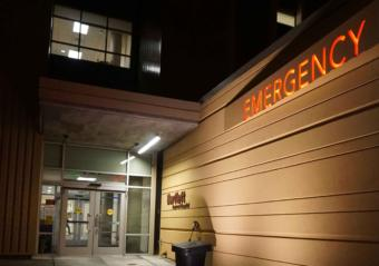 Emergency room entrance at Bartlett Regional Hospital.