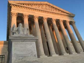 Exterior of the U.S. Supreme Court building in Washington, D.C.