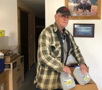 The city of Seldovia provided business owner and city Mayor Dean Lent with jugs of water during a 2019 shortage.