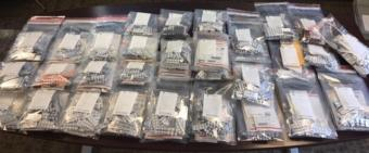 The Drug Enforcement Administration and partner agencies seized these bags of tramadol in Anchorage during a coordinated effort in the summer of 2019.
