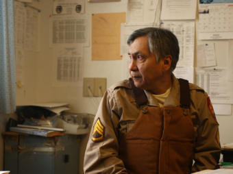 Russian Mission Village Public Safety Officer Simeon Askoak, photographed in January 21, 2004. (Photo by Marc Lester/Anchorage Daily News)