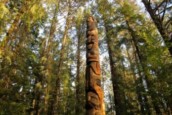 Sitka Tribe of Alaska, or STA, began co-managing interpretation at the Sitka National Historical Park last year. The national park is part of the ancestral lands of the Kiks.ádi and the site of the fort that impeded Russian forces for four days during the Battle of Sitka in 1804. (KCAW File Photo)