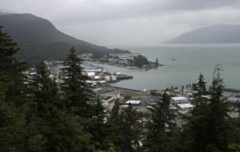 Wrangell as seen from Mount Dewey on July 24, 2014. (Creative Commons photo by James Brooks)
