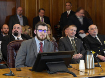 Neil Steininger, director of the Office of Management and Budget, fields questions from members of the House Finance Committee in the state Capitol in Juneau on Feb. 5, 2020. Steininger was presenting Gov. Mike Dunleavy's supplemental budget bill.