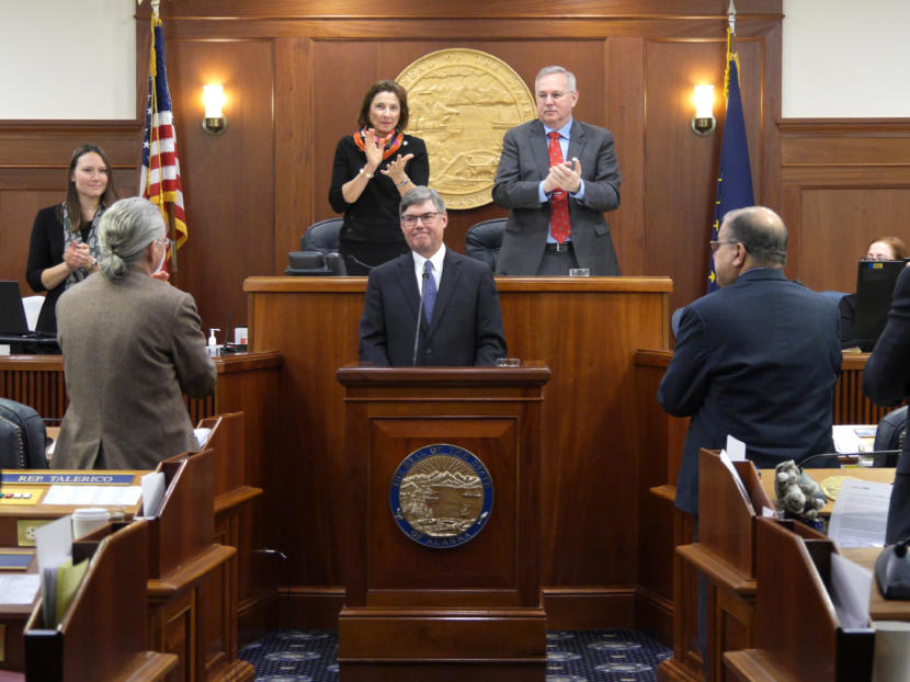 Alaska lawmakers applaud Alaska Supreme Court Chief Justice Joel Bolger