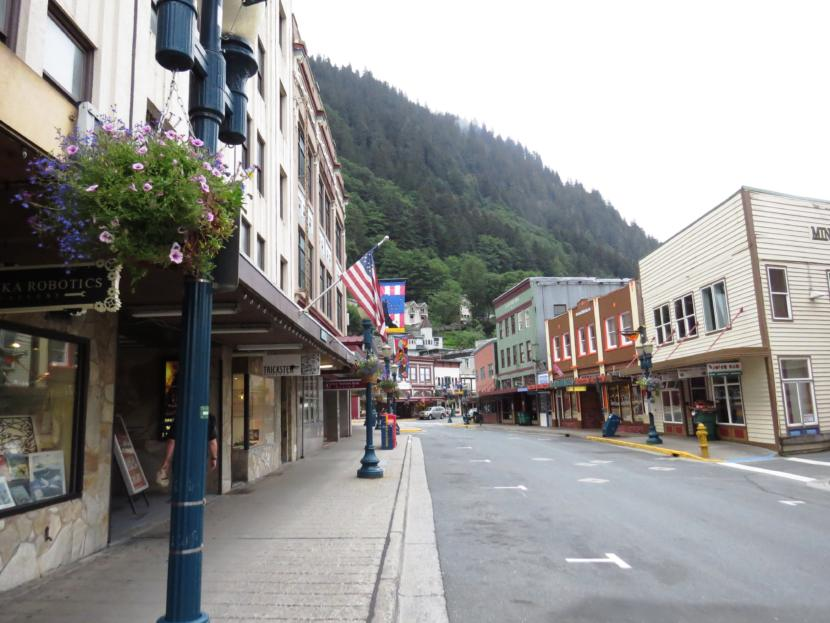 A mostly empty Franklin Street in 2015 in downtown Juneau, Alaska. (Creative Commons photo courtesy of jcsullivan24)