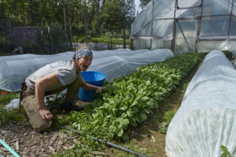 Allie Barker is one of the owners of Chugach Farm in Chickaloon. (Photo courtesy Jed Workman)