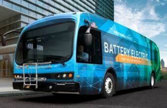 Juneau's electric bus is made by the company, Proterra. (Photo courtesy of the City and Borough of Juneau)