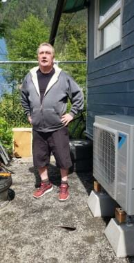 Ray Lindoff explains how he got an air-source heat pump installed at his home in downtown Juneau on June 5, 2020.