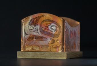 Best of Show winner: Ch'áak' Aanyádi (The High Caste Eagle) by Jerrod Galanin. (Photo by Caitlin Fondell courtesy of Sealaska Heritage Institute)
