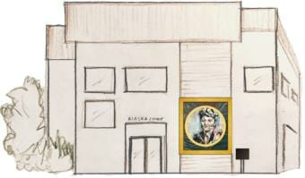 Drawing of the new Elizabeth Peratrovich mural on the Petersburg courthouse