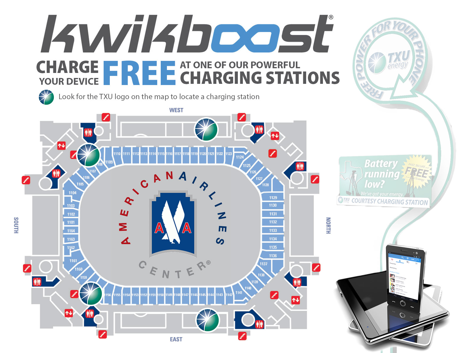 Infographic Free Phone Charging Stations At American