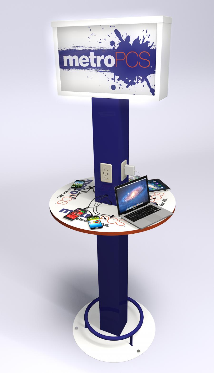 Metro Custom Design Mobile Device Charging Station