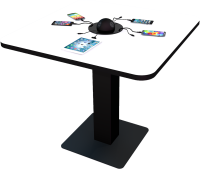 White Sitting Power Table