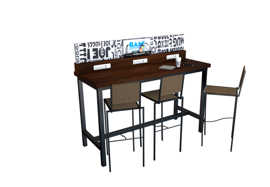 Books A Million Table Custom Design Mobile Device Charging Station