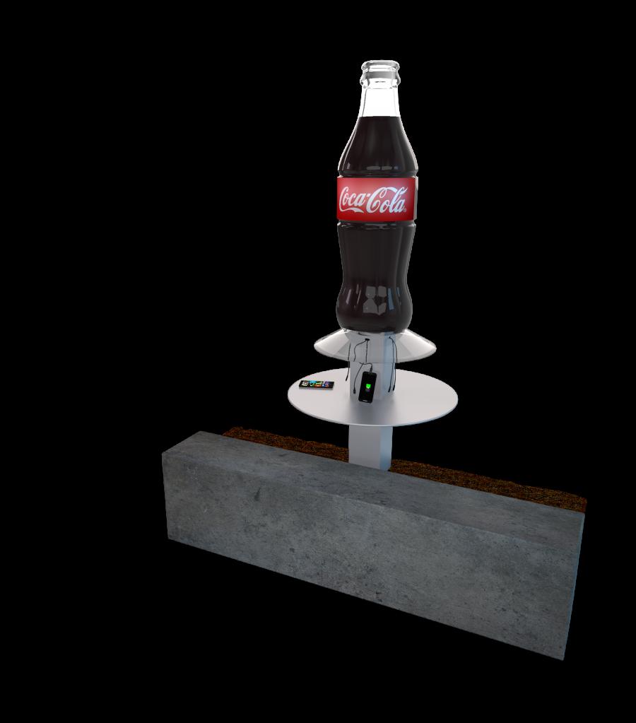 Coca Cola Custom Design Mobile Device Charging Station