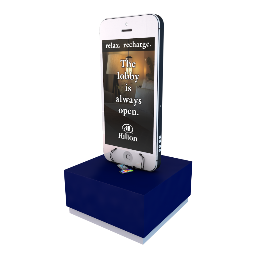 Hilton Custom Design Mobile Device Charging Station