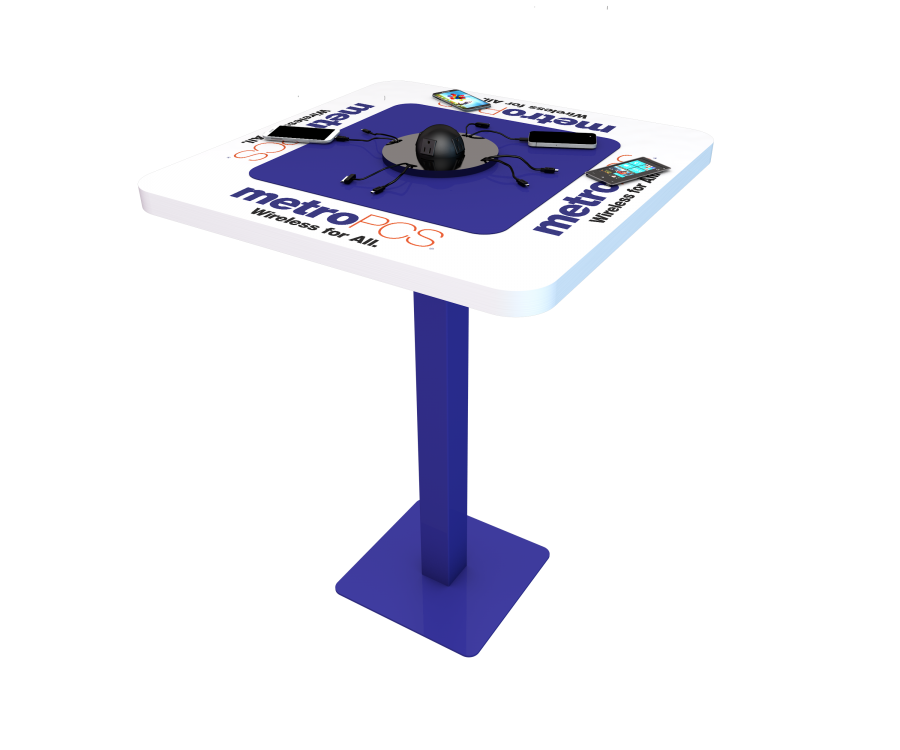 Metro PCS Table Custom Design Mobile Device Charging Station