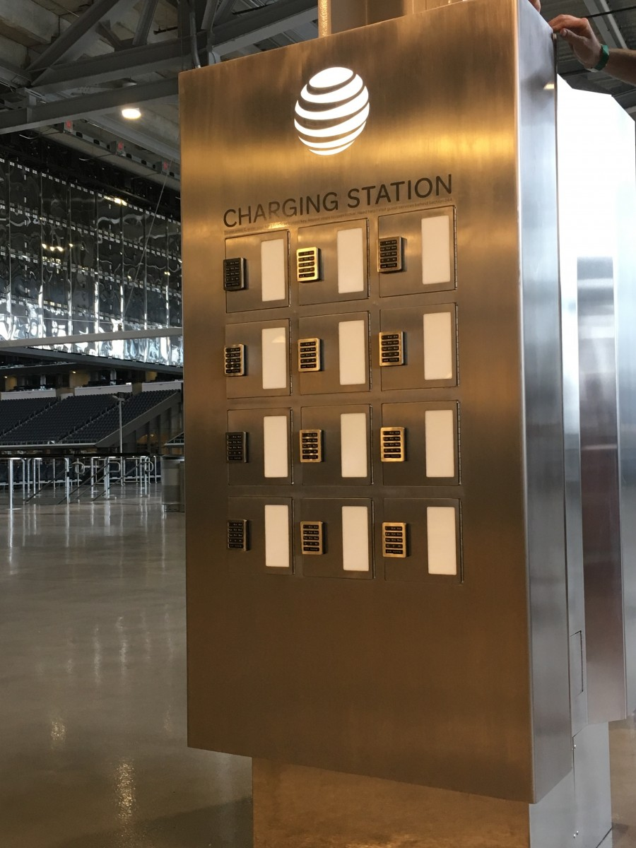 AT&T Locker Table Custom Design Mobile Device Charging Station