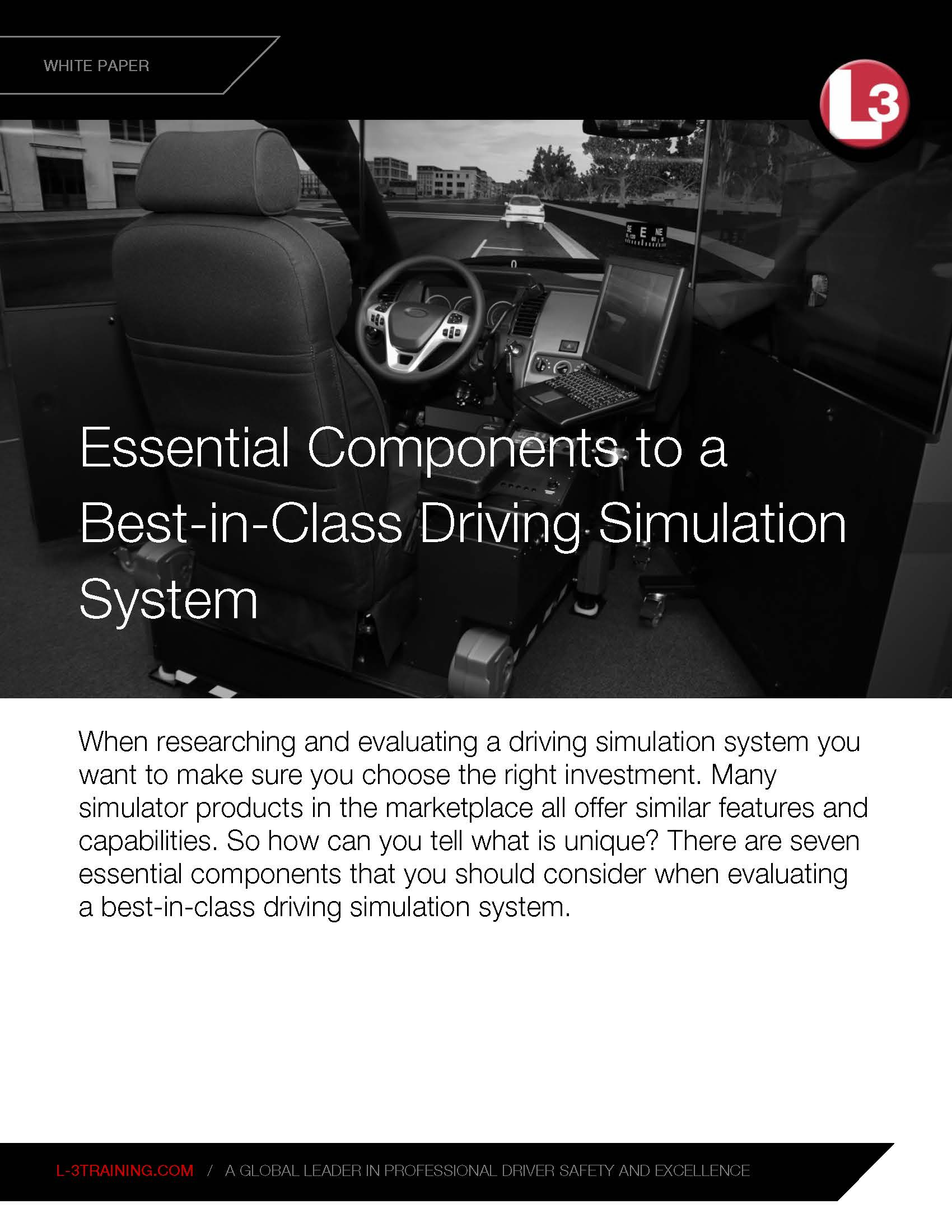 Essential Components of Driving Simulation System